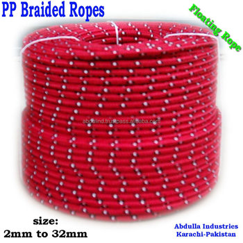 Polypropylene Braided Rope - PP Braided Rope - PP Rope - PP Floating Rope - for Boat, Ships, General Purpose
