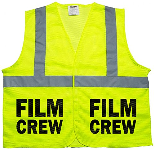 Film Crew vest in mesh fabric, very breathable, high visibility (xl)