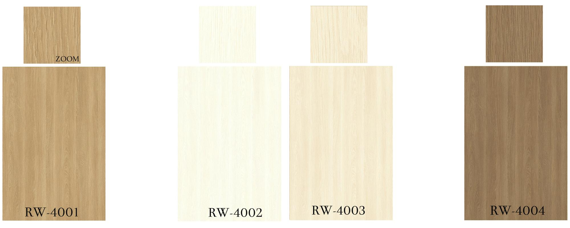 NEW RW-4001 - RW-4008, Real Wood Oak Patterns, PVC Decorative Film, Made in Japan