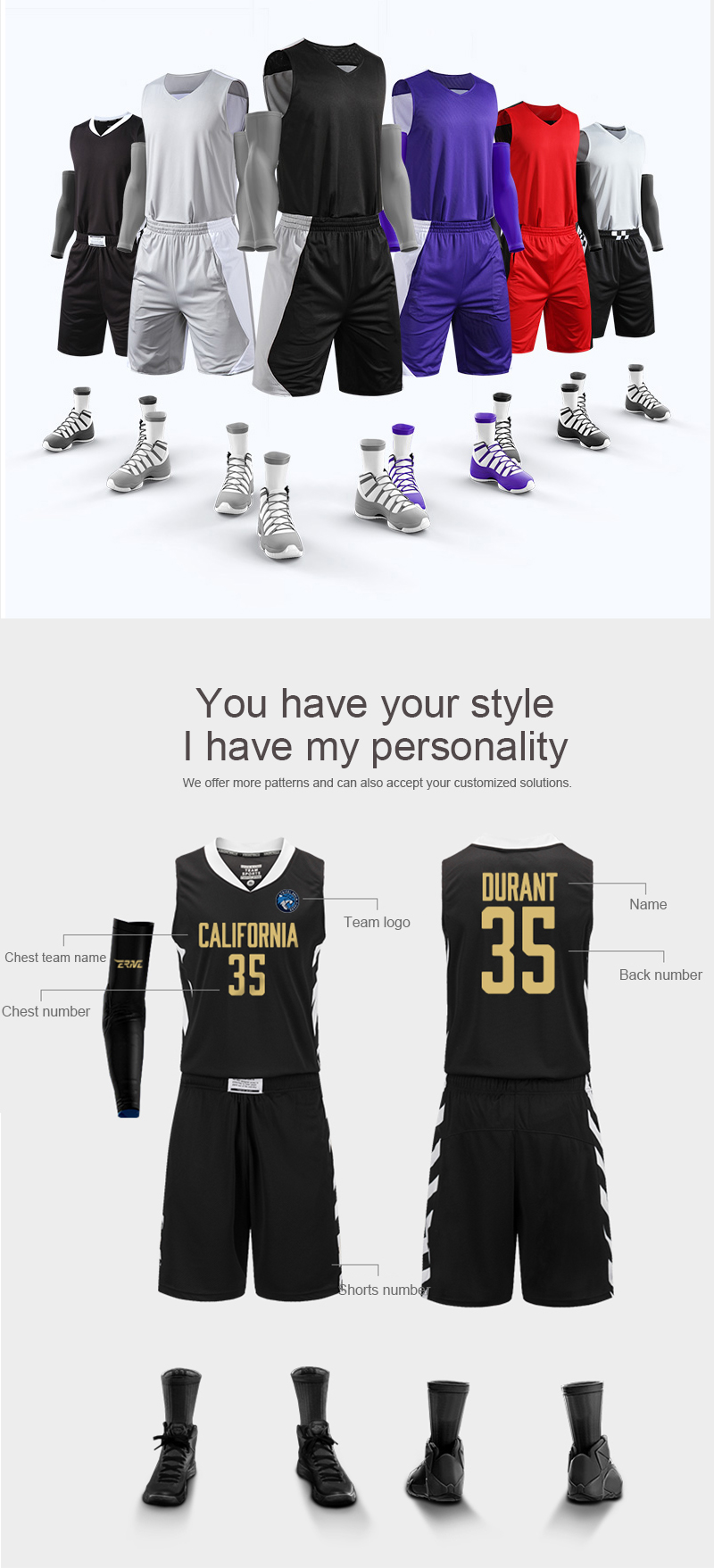 Großhandel reversible custom sublimation camouflage basketball jersey