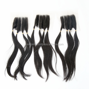 Lace Closure Hair Bundles All Textures Human Extensions Hair Queen Remy Hair