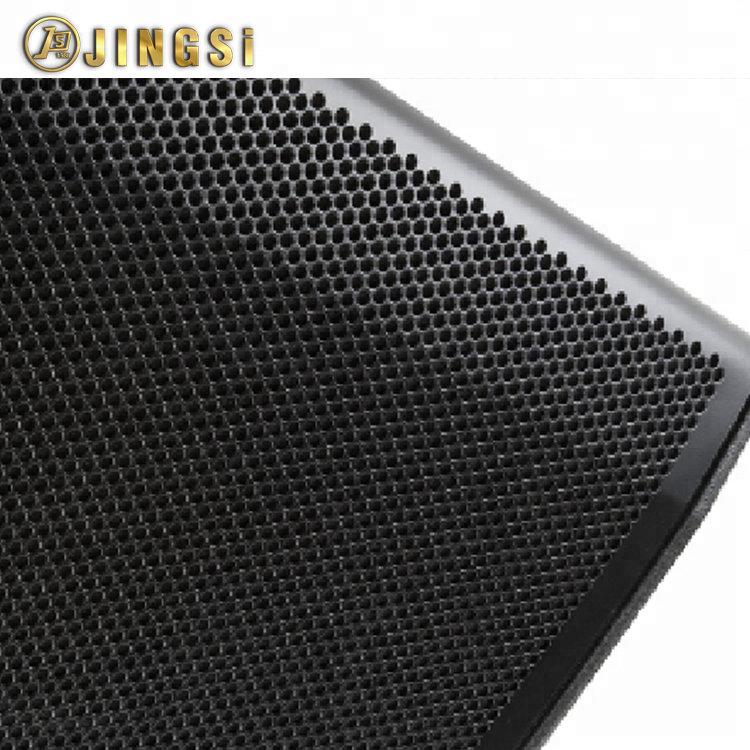 Black Perforated Metal Mesh Panel For Metal Speaker Grille