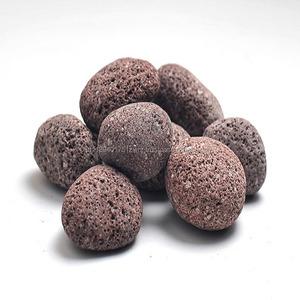 Best product of Indonesia natural red lava pebble stone for fire pit