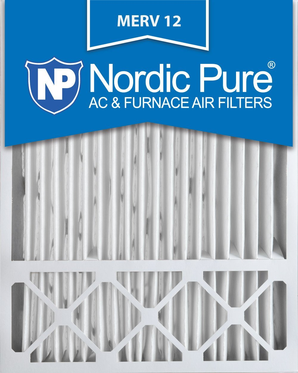 Nordic Pure 20x25x5 (4-3/8 Actual Depth) Lennox X6673 Replacement MERV 12 Pleated AC Furnace Air Filter, Box of 2