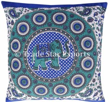 Indian Mandala Elephant Tapestry Fabric Pillow Cover Decorative Pillows Square Printed Cushion Covers