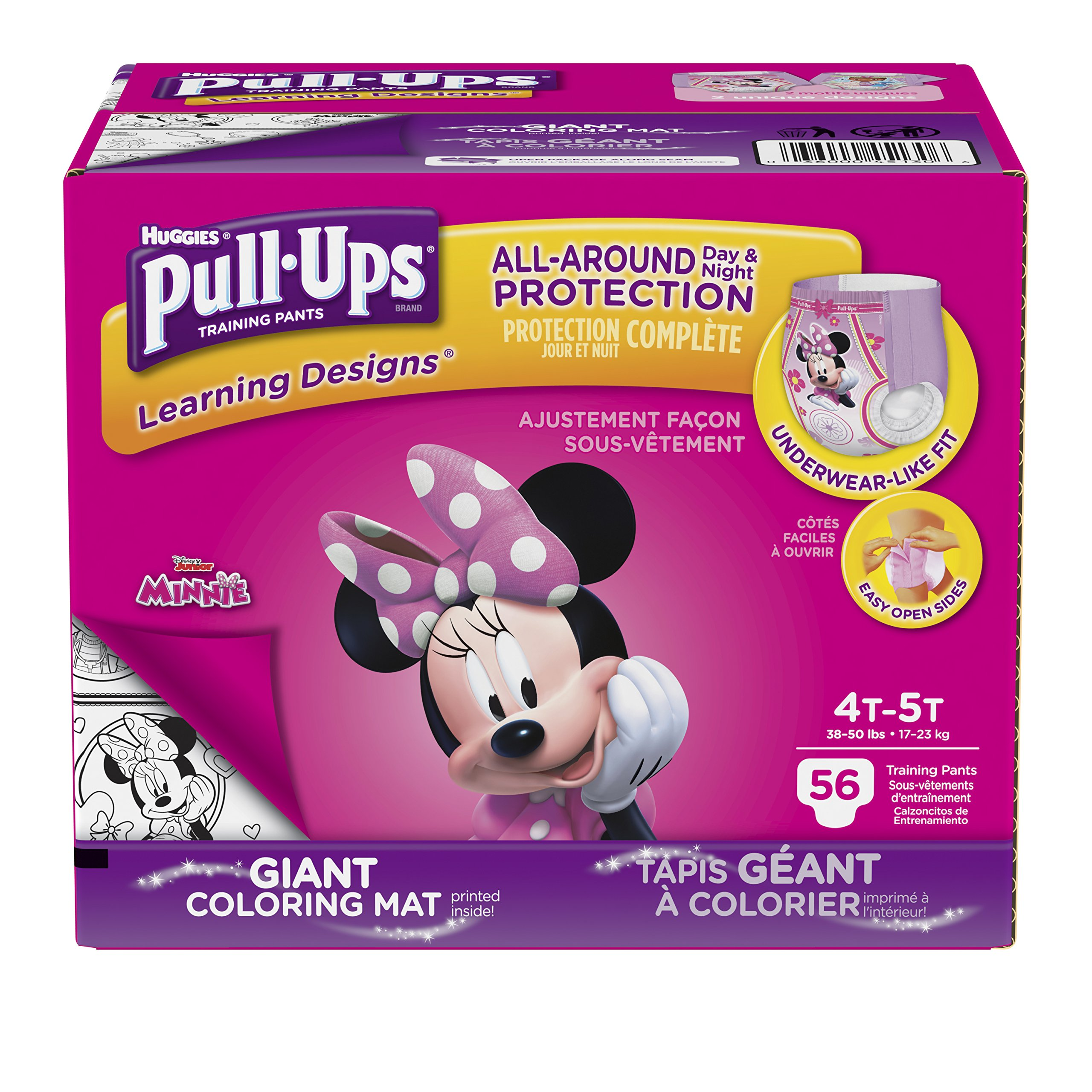 Get Quotations · Pull-Ups Learning Designs Training Pants for Girls, 4T-5T  (38-