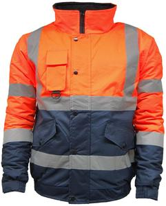 custom safety work wear jacket reflective tape uniform waterproof