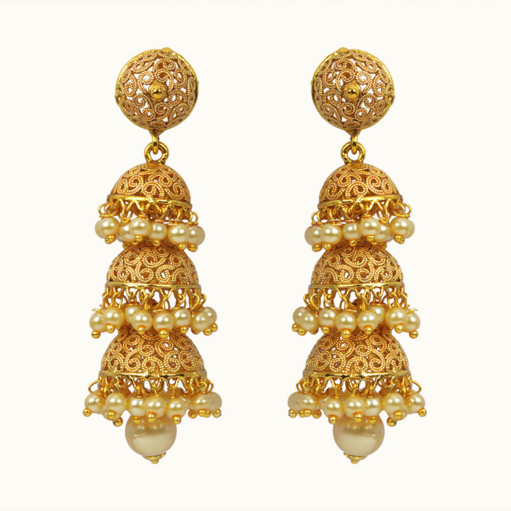 Ethnic Looking Earring Jhumka Design Available In Various Styles 10811 Designs For Earrings Price Gold