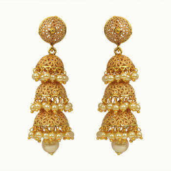 91d8a2f76 Ethnic Looking Earring Jhumka Design Available in Various Styles - 10811