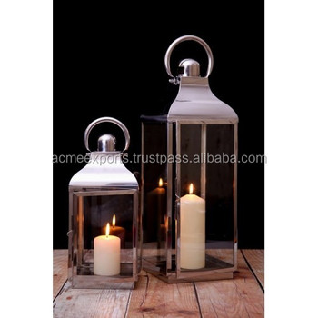 Lantern Large Decorative In Stainless Steel