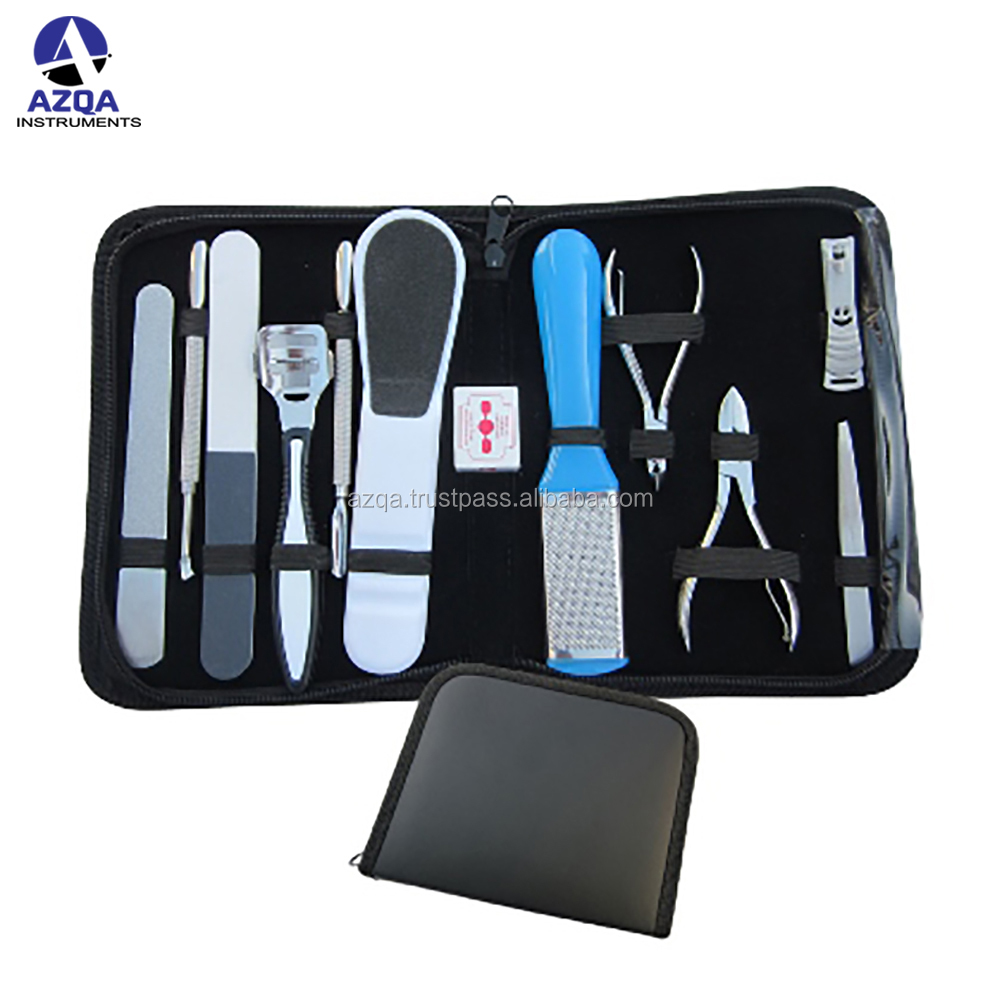 Nova 14 PCS Pedicure/Manicure Set Cortaunas Cleaner Cuticle Grooming Caso Kit