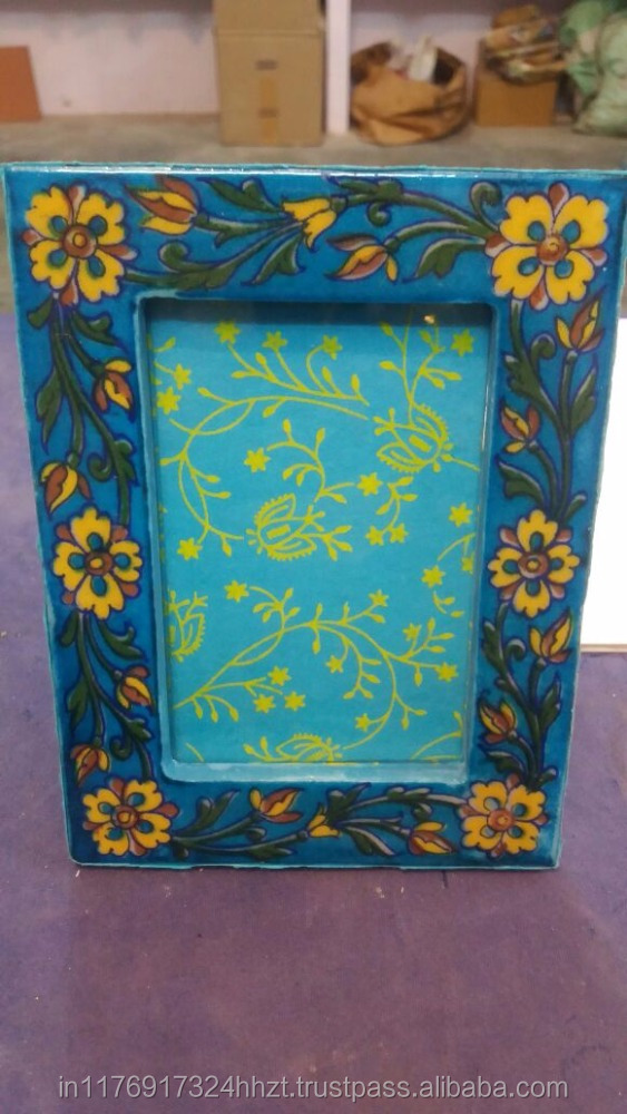 Handcrafted Blue Pottery Photo Frames - Buy Love Photo Frames ...