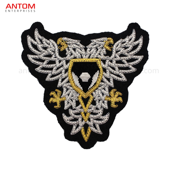 Machine And Hand Embroidered Bullion Wire Patches / German Patches / Usa  Army Badges Oem Made By Antom Enterprises - Buy Custom Hand Embroidery