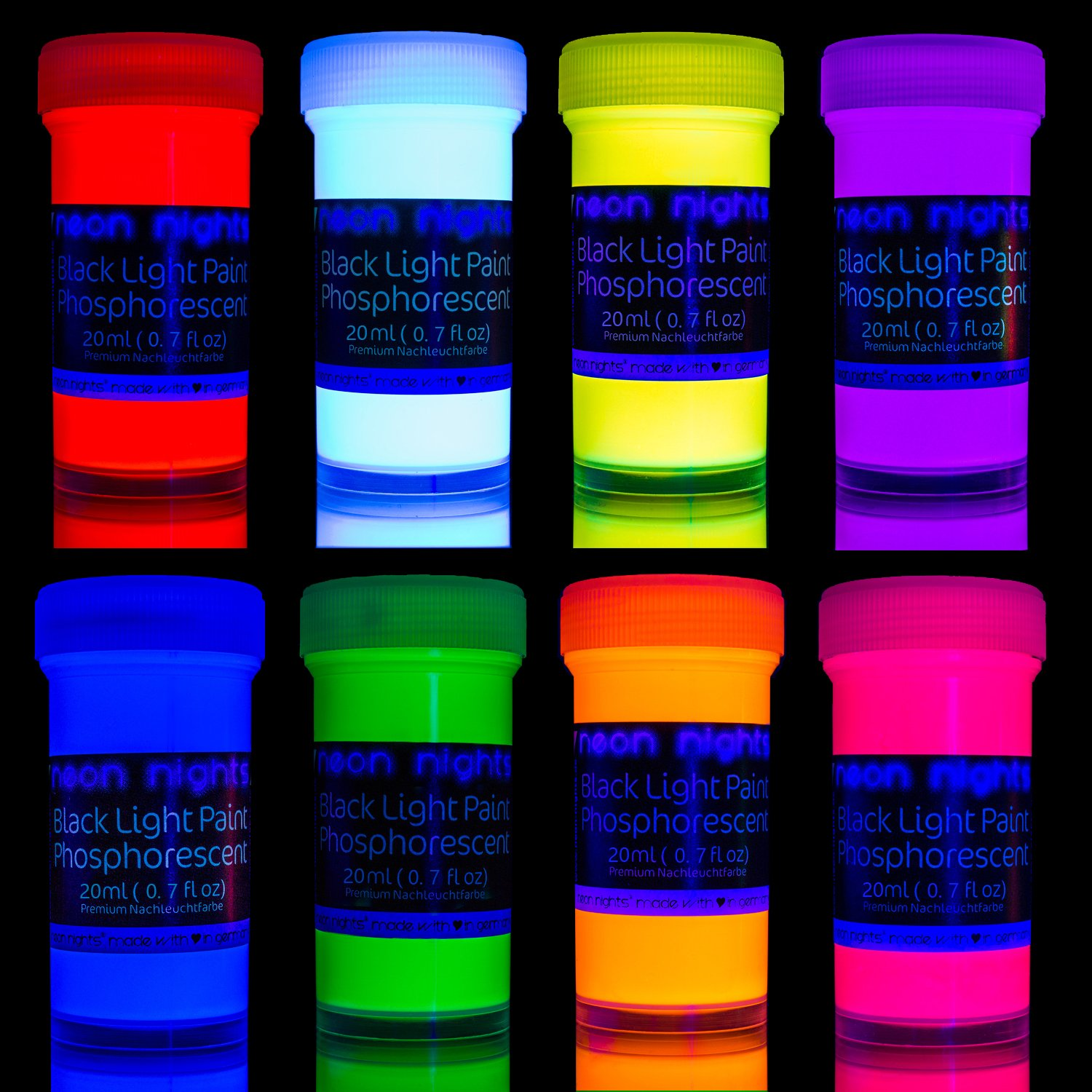Get Quotations Neon Nights Glow In The Dark Luminescent Phospscent Self Luminous Paint
