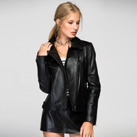 Women Turkish Leather Jacket First Class Black