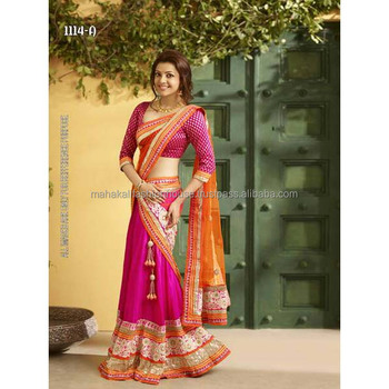 Bollywood Heavy Designer Embroidery Lehenga Choli Ghagra Choli