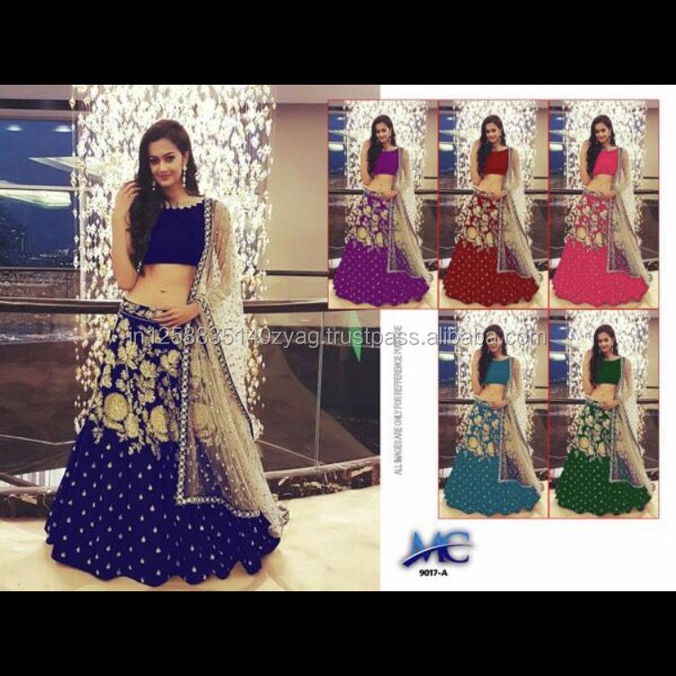 5ea8a78e63 Exclusive Indian Designer Wedding Party Wear Lehenga Choli - Buy ...