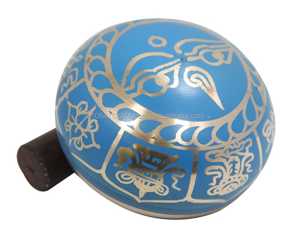 MEDITATION 8 LUCKY SYMBOLS SINGING BOWL -TURQUOISE