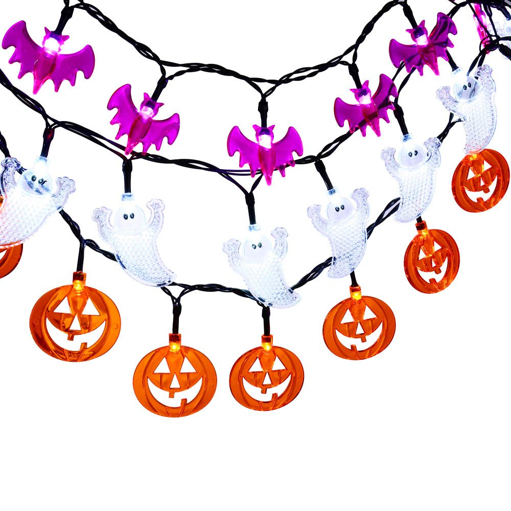 get quotations luckled set of 3 battery powered halloween string lights 20 led fairy decorative lights for