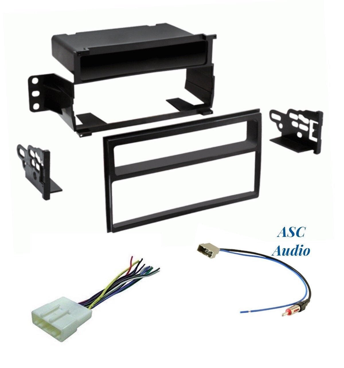 Get Quotations · ASC Premium Car Stereo Dash Install Kit, Wire Harness, and  Antenna Adapter to Install