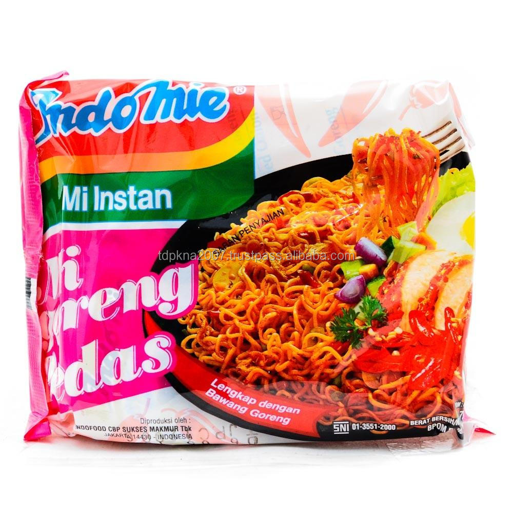Hot selling Indomie Mi Goreng Pedas Instant Noodles With Cheap Price
