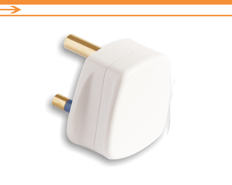 White uk standard 15Amp top plug with fused