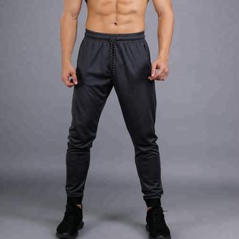 5eede1b82 Atacado personalizado calças Slim Fit Gym Workout Fitness gym Faixa calças  de Algodão Homem
