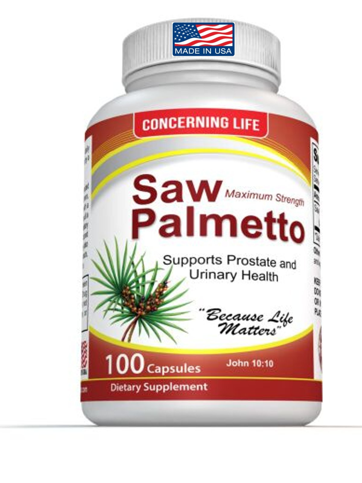 Saw Palmetto Complex for Prostate Health, Promotes Healthy Urination frequency and May Help With Hair Loss, DHT Blocker
