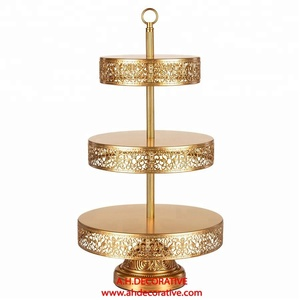 Tall 3 Tier Metal Cake Stand