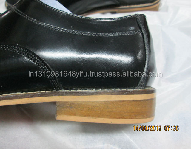 Comfort shoes sole Outdoor Men's Leather leather calf formal black For SSq60wt