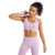 73% polyester 27% spandex womens gym bra cross back sports bra