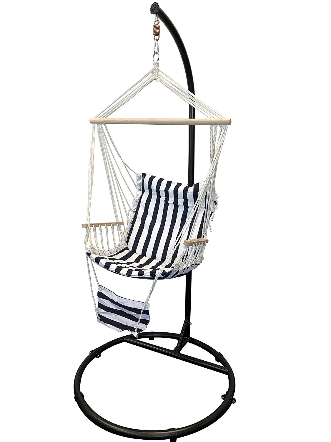 "Get Quotations · Petra Leisure 84"""" C Top, Round Base, Hanging/Swinging  Hammock Chair"