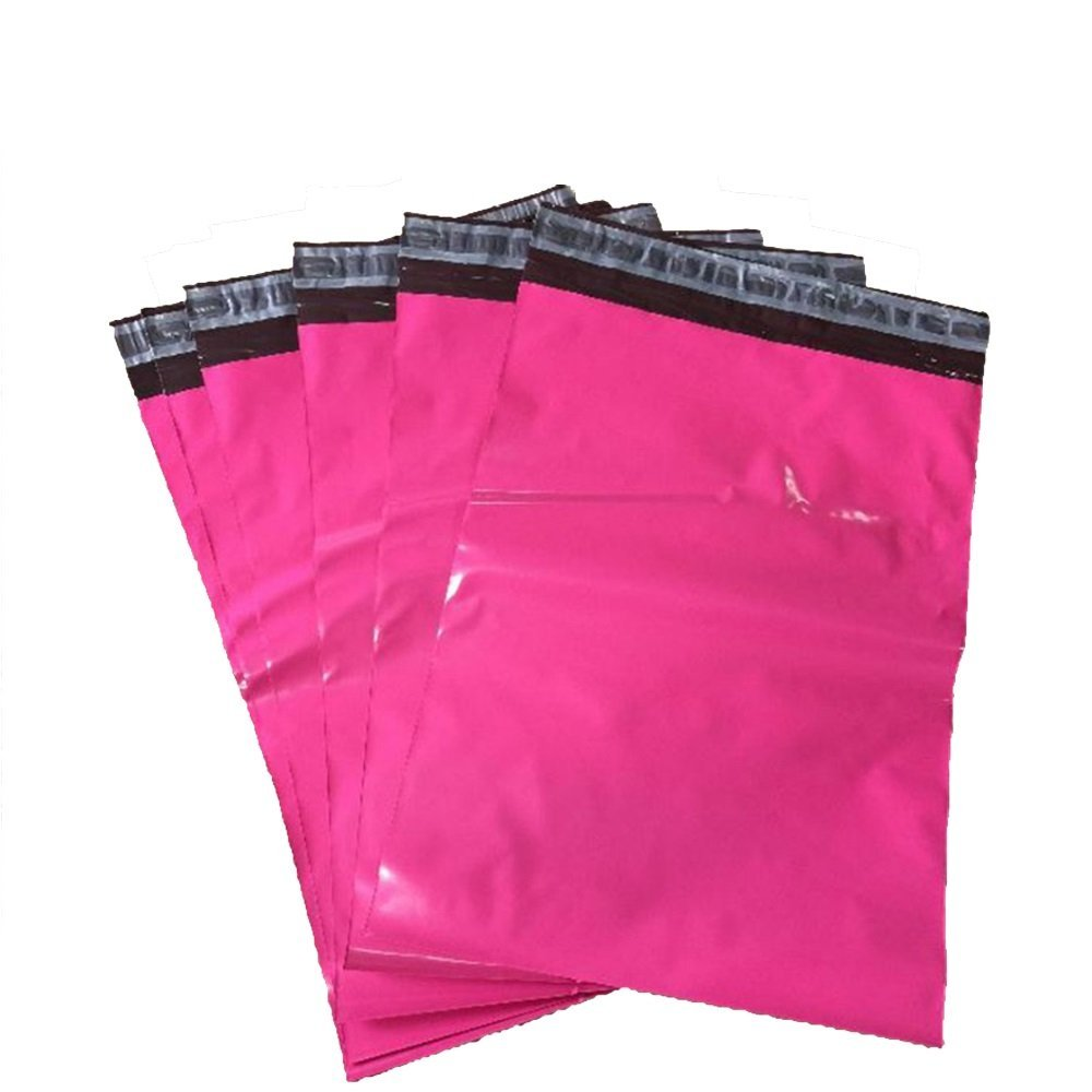 "100 Count #5 12 x 15.5 Inch Oknuu Packaging Supplies Hot Pink Poly Mailers Self-Sealing Shipping Envelopes Plastic Mailing Bags 2.5 Mil Thickness 12""x15.5"" (100 Pack)"