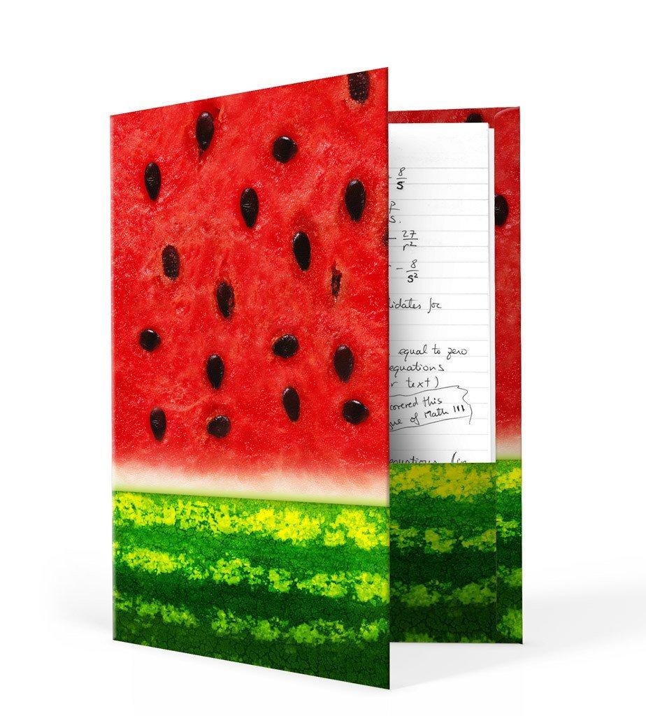Book Sox Folders (1 Item, Watermelon Print)