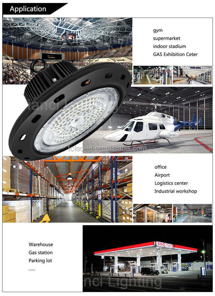 Professional LED High bay factory 200W Ufo high bay light IP65 wearhouse high bay light
