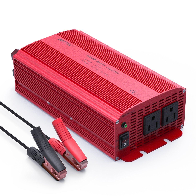 Power Inverter, BESTEK 1000W Power Inverter 12V to 110V Car AC Adapter with Dual AC Outlets