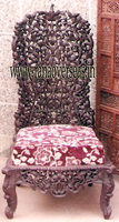 Wooden Back Carved Dining Chair