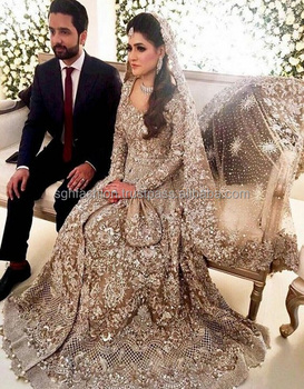heavy Pakistani wedding bridal dresses