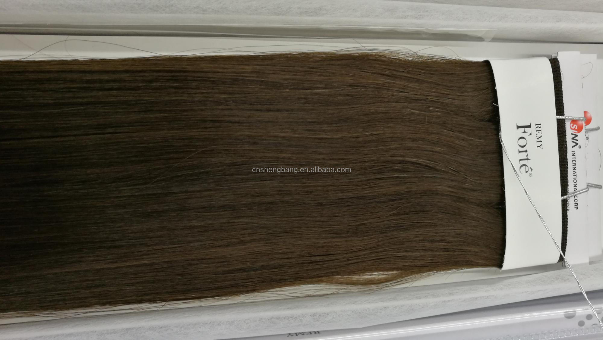 "Remy Forte 100% Hair Weave Double Drawn SINA 18"" 4# and2# 9a noble silk remi hair"