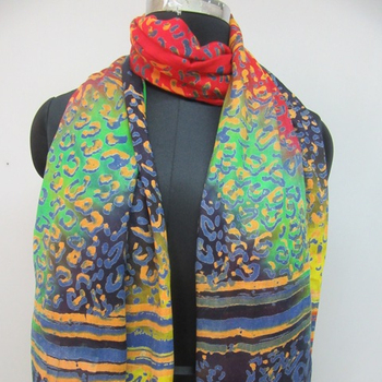Viscose/rayon printed scarves