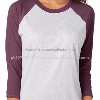b52c69dcc Baseball T shirt Women Poly Cotton 3 4 Sleeve Raglan Baseball t Shirts Sale