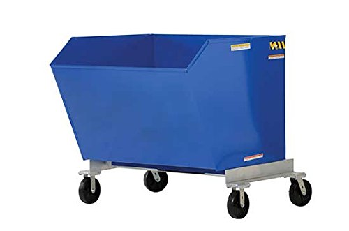 "Mobile Hoppers - BP-HOP Series; Volume Cubic Yards: 1; Capacity (LBS): 2,000; Overall Size (W x D x H): 58-13/16"" x 52-7/8"" x 37-3/8""; Gauge of Steel: 12; Fork Pocket (W x H): 7"" x 2"""