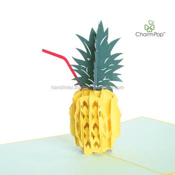 Pineapple custom cheap print greeting card pop up card wholesale for pineapple custom cheap print greeting card pop up card wholesale for birthday mothers day m4hsunfo