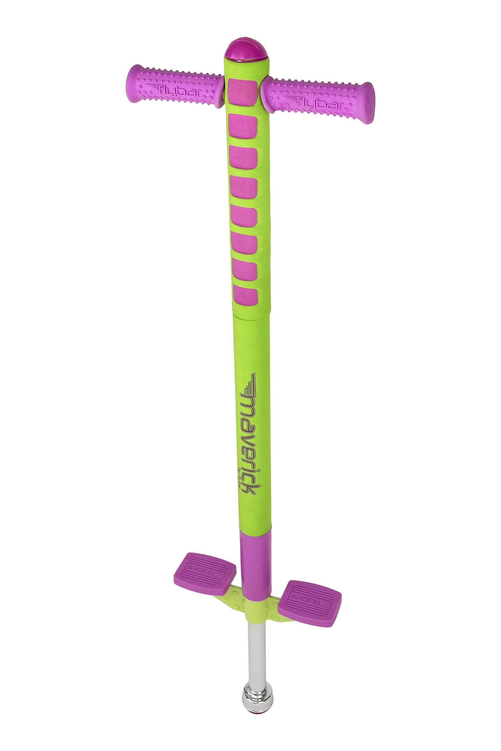 Flybar Limited Edition Foam Maverick Pogo Stick for Kids - Two New Colors & New Rubber Hand Grips