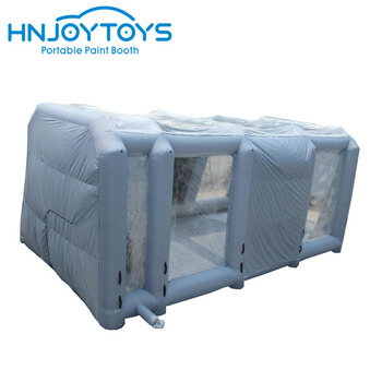 Hnjoytoys spray booth inflatable car tent inflatable workstation