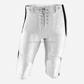67703cdfd0b Cheap custom youth team White Heavyweight Spandex Padded American Football  Pants