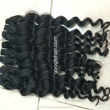 Hot selling curly human hair weft natural color, no shedding, no tangling for black women supplier