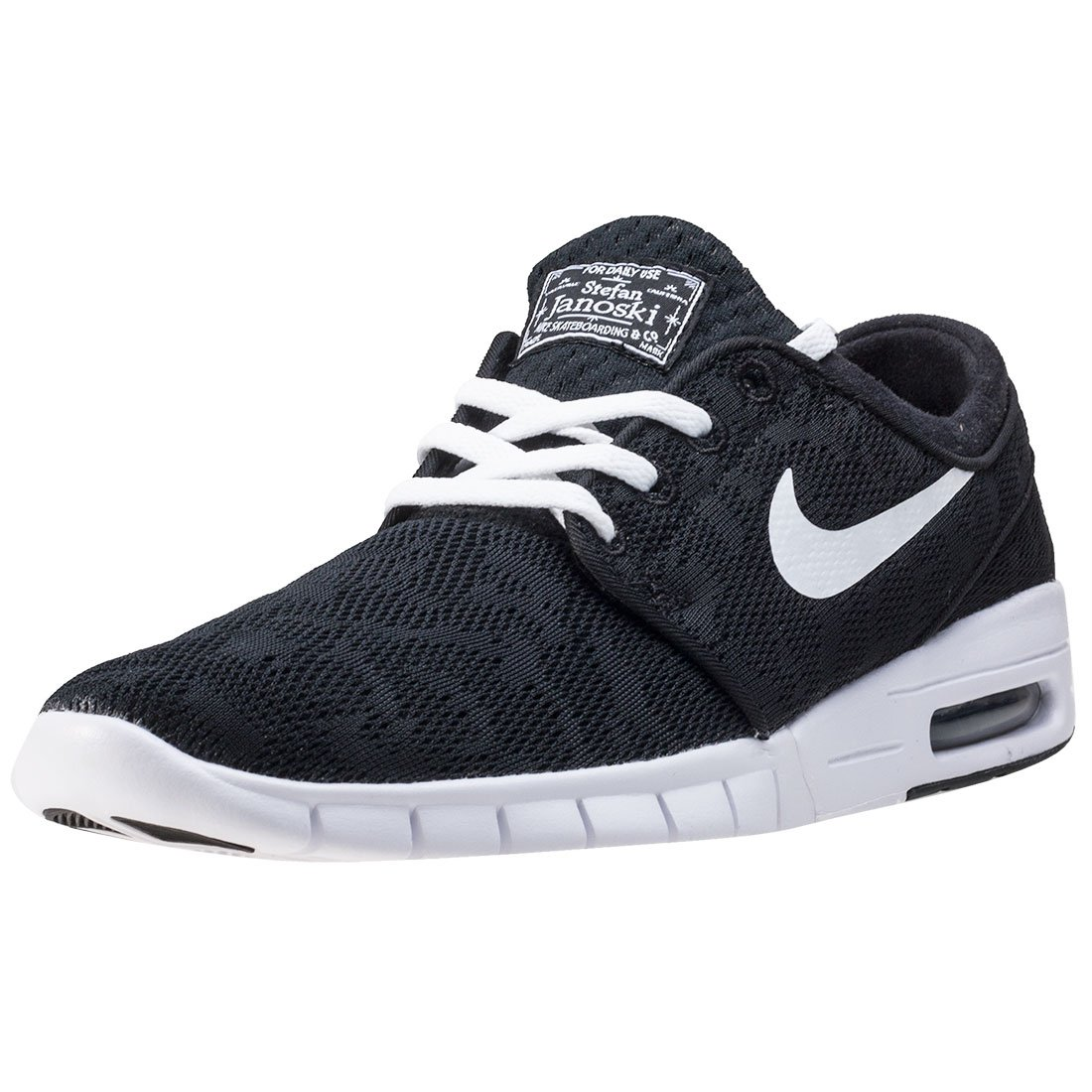 size 40 dffdf 6f568 Get Quotations · Nike Mens Stefan Janoski Max BlackWhiteSneakers - 13  D(M) US