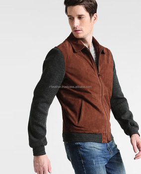 9473baa8a POLO LEATHER JACKETS MADE OF GENUINE SUEDE LEATHER Leather jacket - brown  grey melange