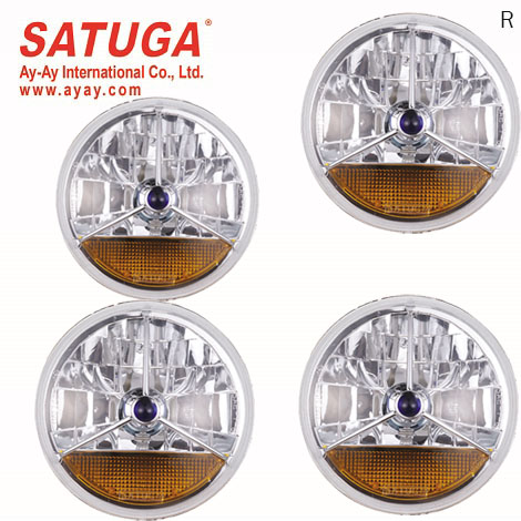 All Types Headlamp Factory Car Lighting Element Replacement